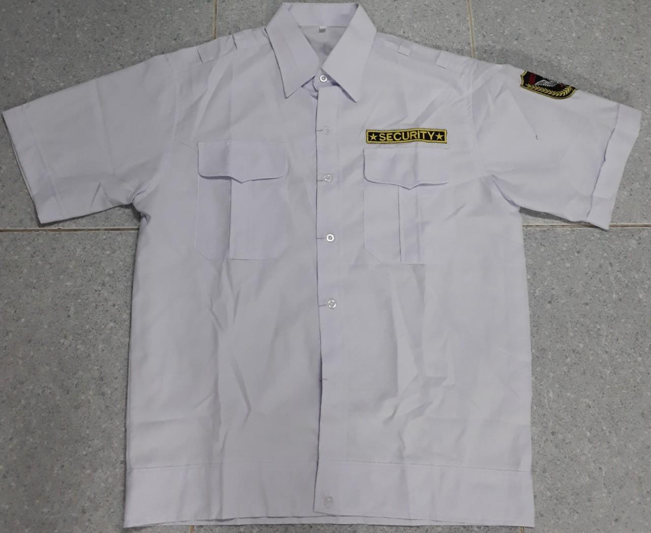 Áo bảo vệ trắng vải kate ford áo bo gấu vải mềm mát
