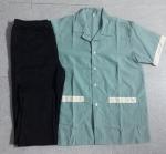 Bộ tạp vụ áo xanh ngọc quần thun đen