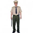 Bộ bảo vệ áo màu kem, quần xanh riêu