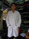 Áo blue trắng tay dài