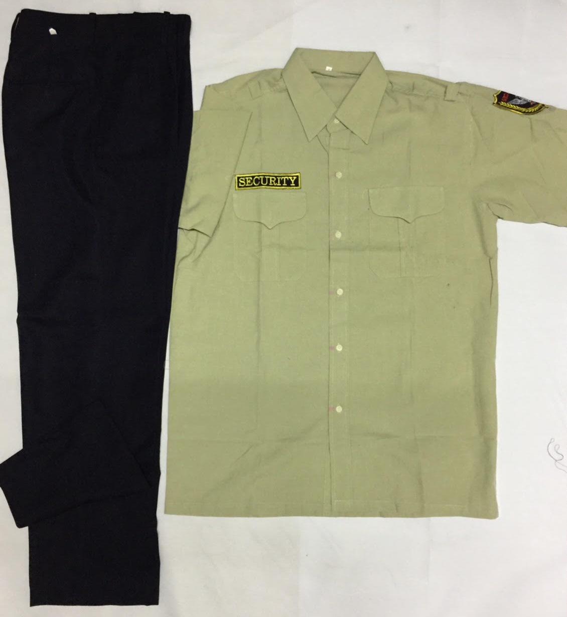 Bộ bảo vệ quần cashmere xanh đen áo kaki Thành Công